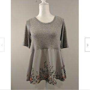 Moth Anthropologie Shirt Sweater Short Sleeve
